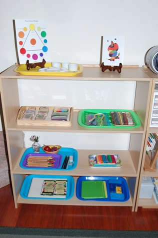 elementary art shelf