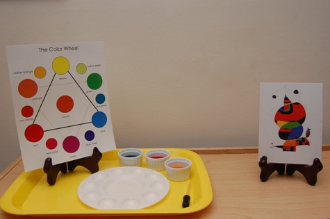This Shelf Contains A Color Mixing Work Similar To The One Youd Find In Preschool Only Now An Additional Component Chart Has Been Added