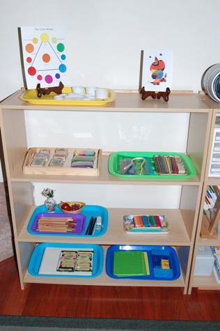 elementary art shelf